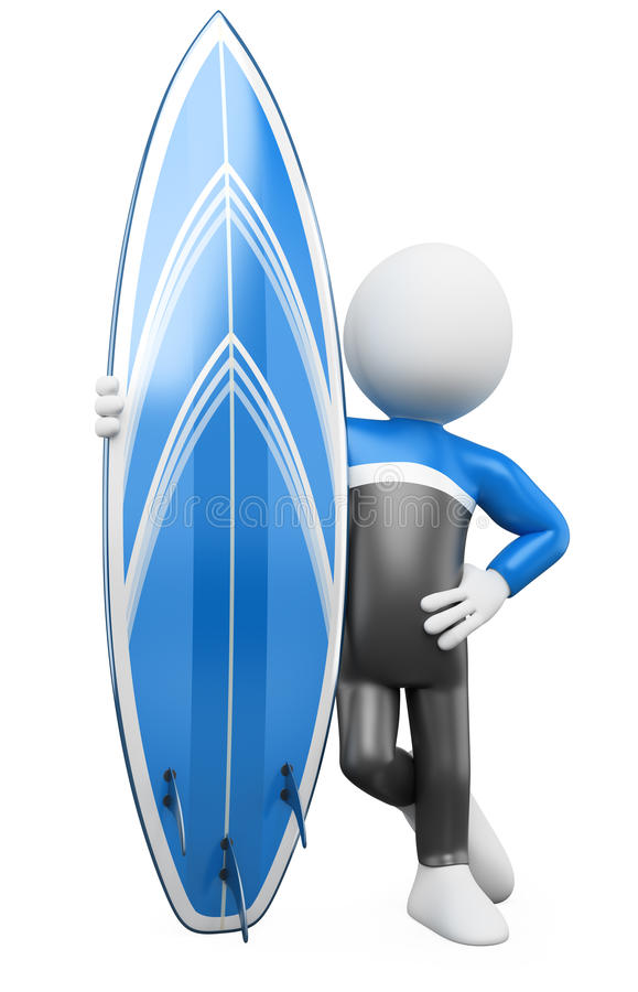 3d surfboard target2437_0_ surfingowiec royalty ilustracja