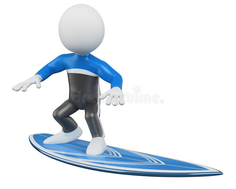 3d surfingowa surfing ilustracji