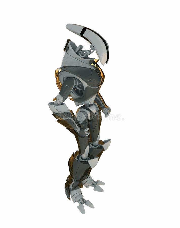 3d svalnar roboten stock illustrationer