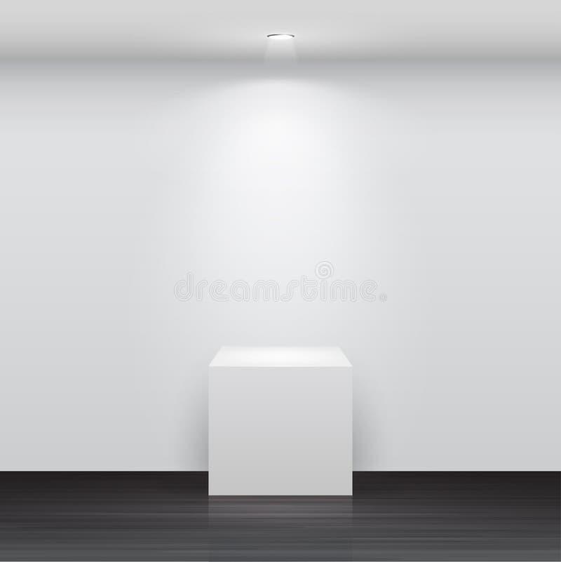 3d svuotano il basamento bianco per la vostra esposizione royalty illustrazione gratis