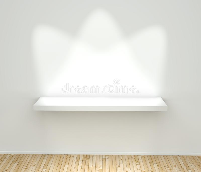 3d svuotano la mensola bianca royalty illustrazione gratis