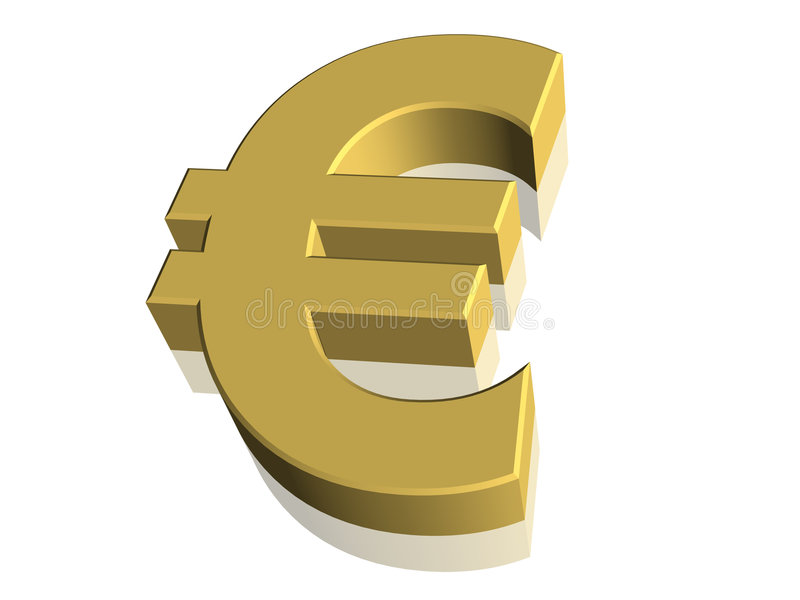 Download 3D Symbol - Euro Currency stock illustration. Image of currencies - 6544739