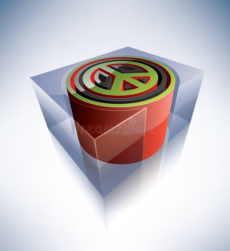 3D symbol: Peace symbol stock illustration
