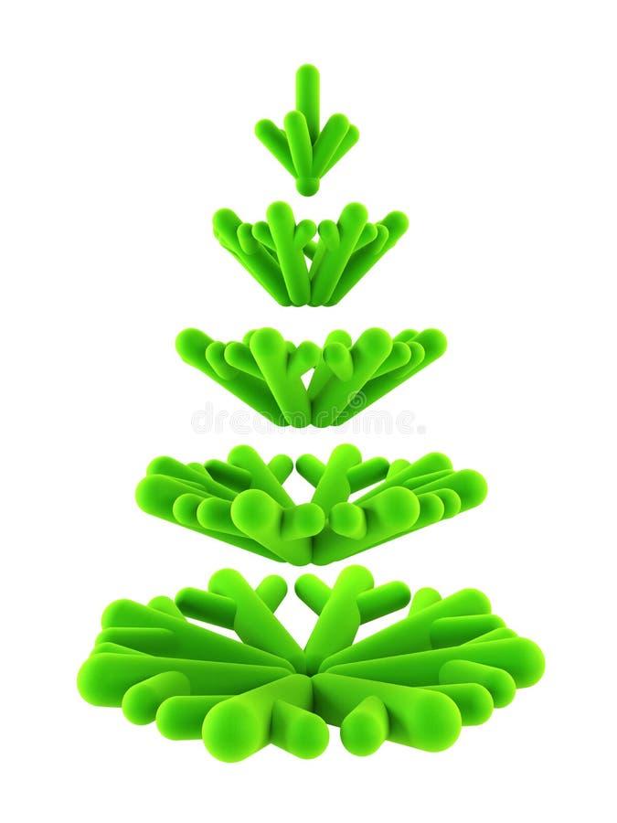 3d symbolic New Year s fir tree