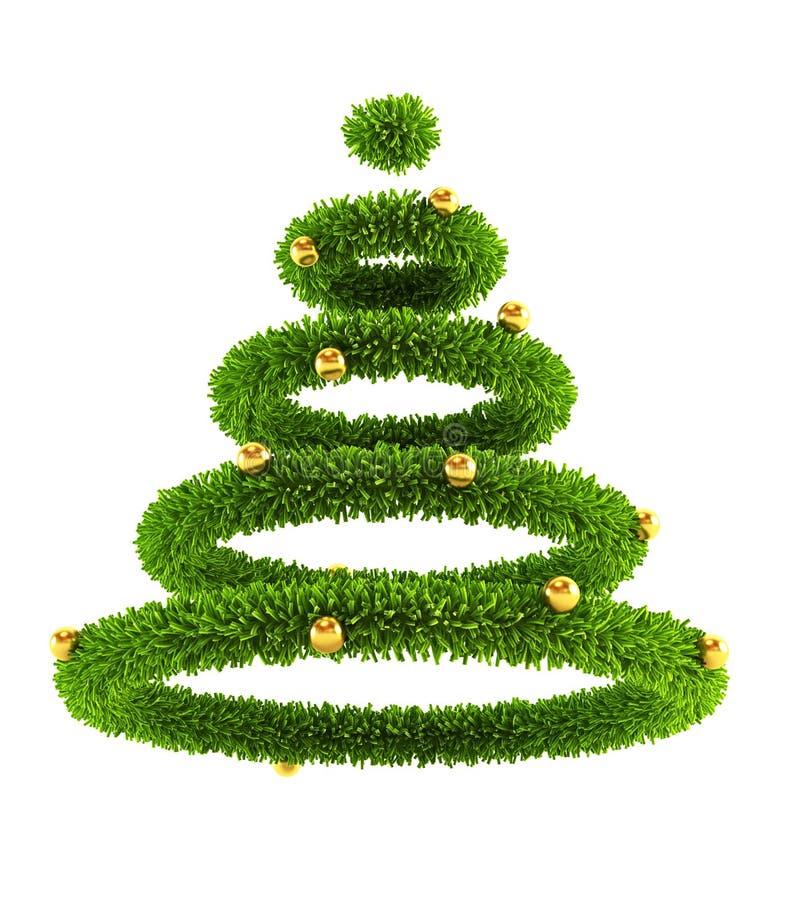 3d symbolic New Year's tree royalty free illustration