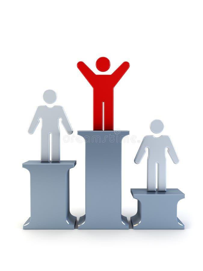 Download 3d symbolic winner man stock illustration. Image of sportsmen - 8041740