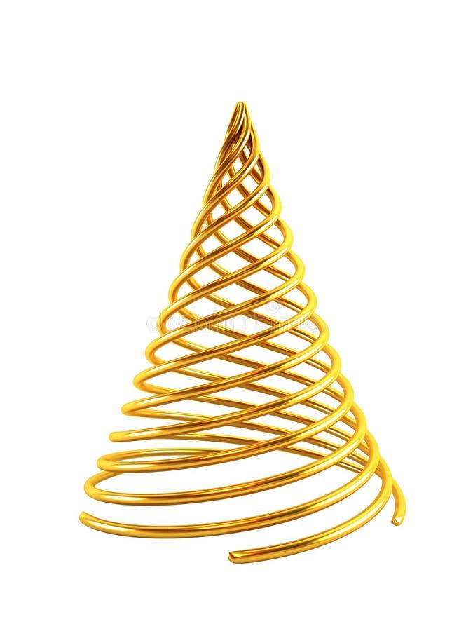 3d symbolische Kerstboom vector illustratie