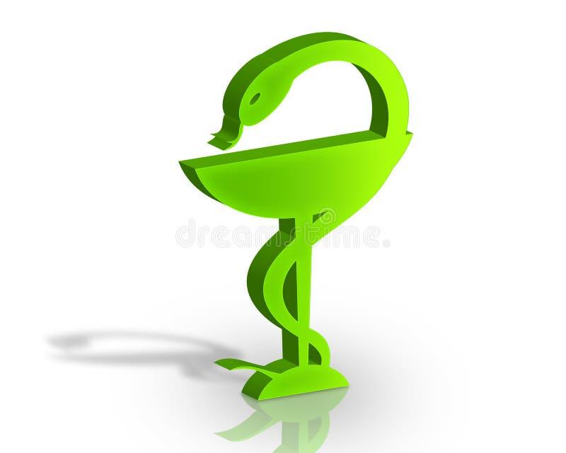 3D symbool van de Apotheek stock illustratie