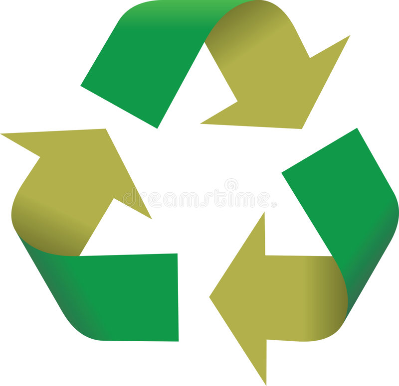 3D Symbool van het Recycling royalty-vrije illustratie