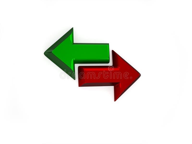 3d sync glanzend pictogram stock illustratie