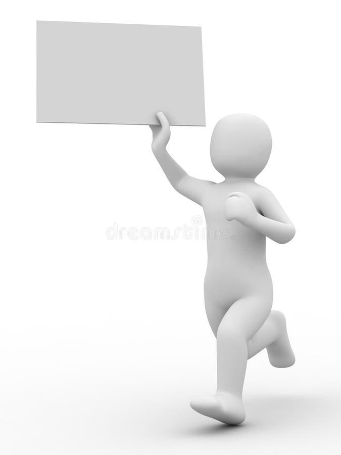3d tömmer datalistpersonen vektor illustrationer