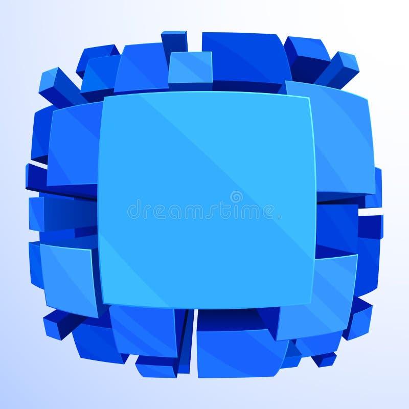 3d tła abstrakcjonistyczny błękit royalty ilustracja
