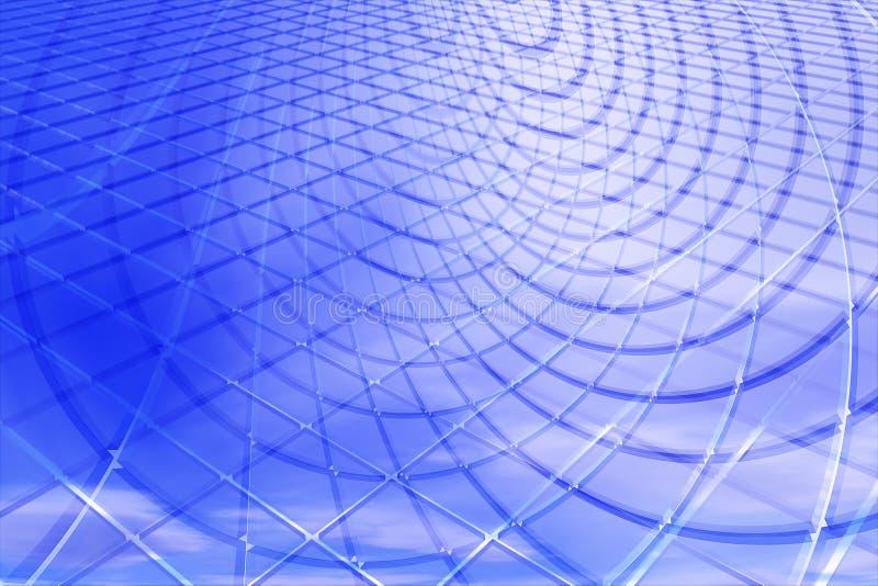 3d tła abstrakcjonistyczny błękit ilustracji