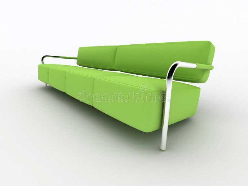 3d tła zieleń izolujący kanapy biel ilustracji