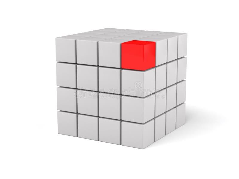 Download 3d Tła Lidera Czerwony Biel Ilustracji - Ilustracja złożonej z rywalizacja, sześcian: 13334035