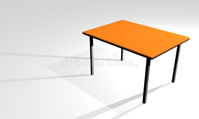 Download 3d table stock illustration. Image of graphic, dining - 19736624