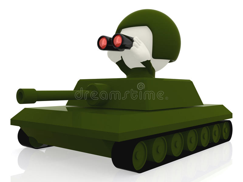 Download 3D tank stock illustration. Illustration of abstract - 21021668