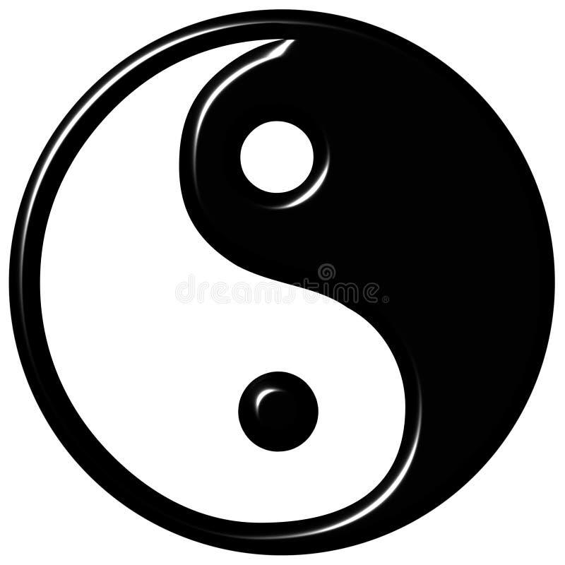 Download 3D Tao Symbol stock illustration. Image of circular, evil - 5790355