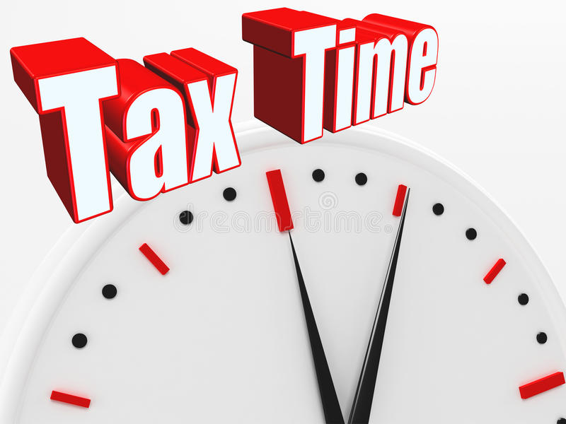3D Tax Time ! vector illustration