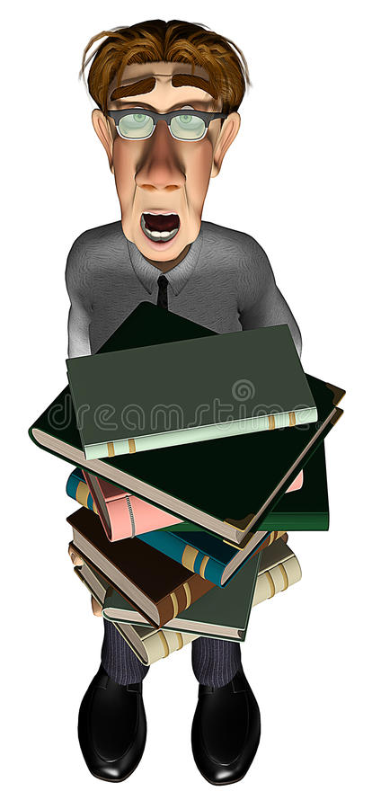 Download 3d Teacher Teaching Arms Books Stock Illustration - Image: 14464728