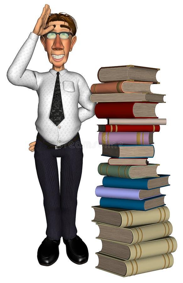 3d Teacher Teaching Books Royalty Free Stock Image