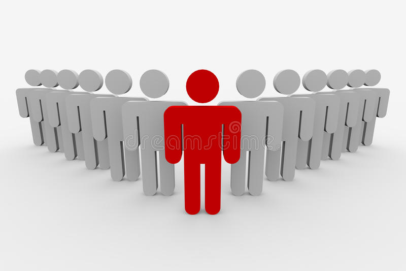3D team leader man. Concept. vector illustration