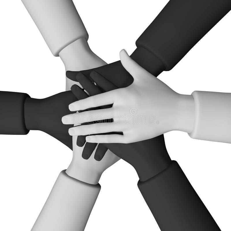 Download 3d. Teamwork And Team Spirit Stock Illustration - Image: 15795165