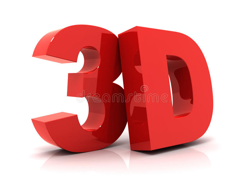 3D tekst royalty-vrije illustratie