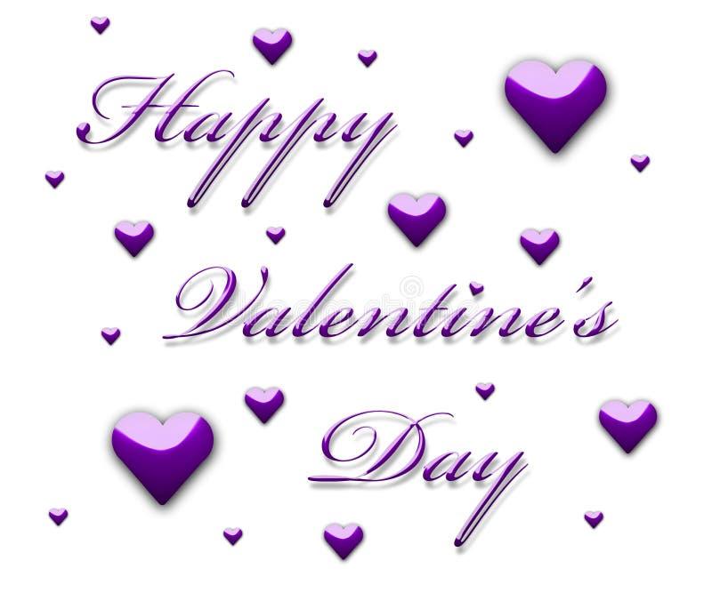 3d tekst van de Dag van de gelukkige Valentijnskaart royalty-vrije illustratie