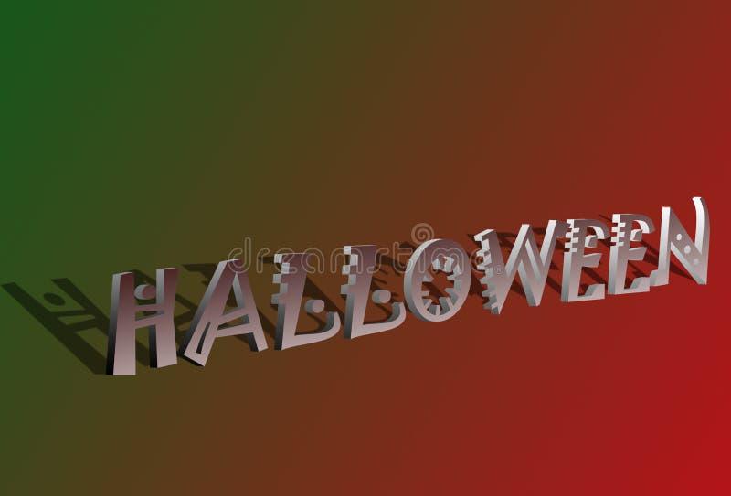 3D tekst van Halloween royalty-vrije illustratie