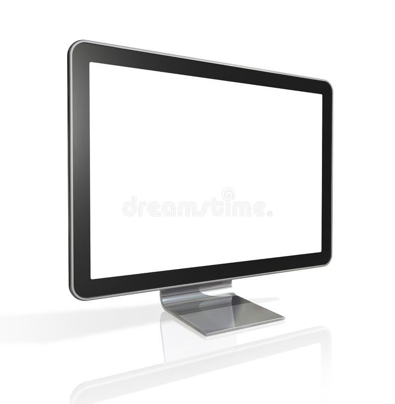 3D televisão, ecrã de computador ilustração do vetor
