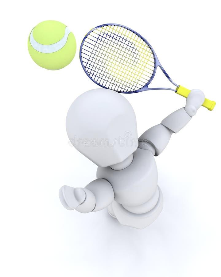 Download 3D tenis player serving stock illustration. Illustration of white - 8588231