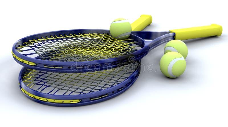 3d Tennis equipment stock illustration