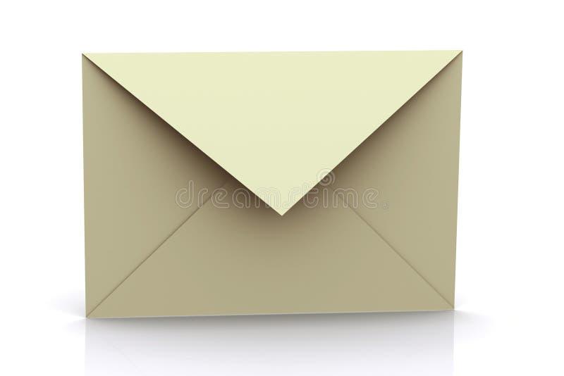 3d Teruggegeven Envelop stock foto's