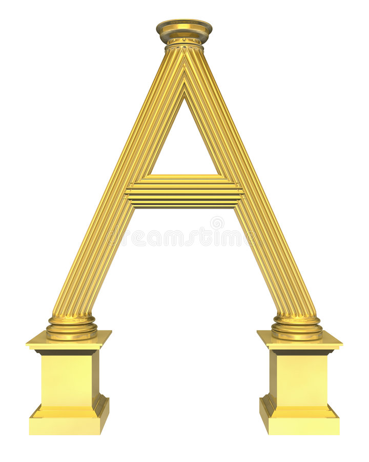 3d teruggegeven gestalte gegeven illustratie van kolom A vector illustratie