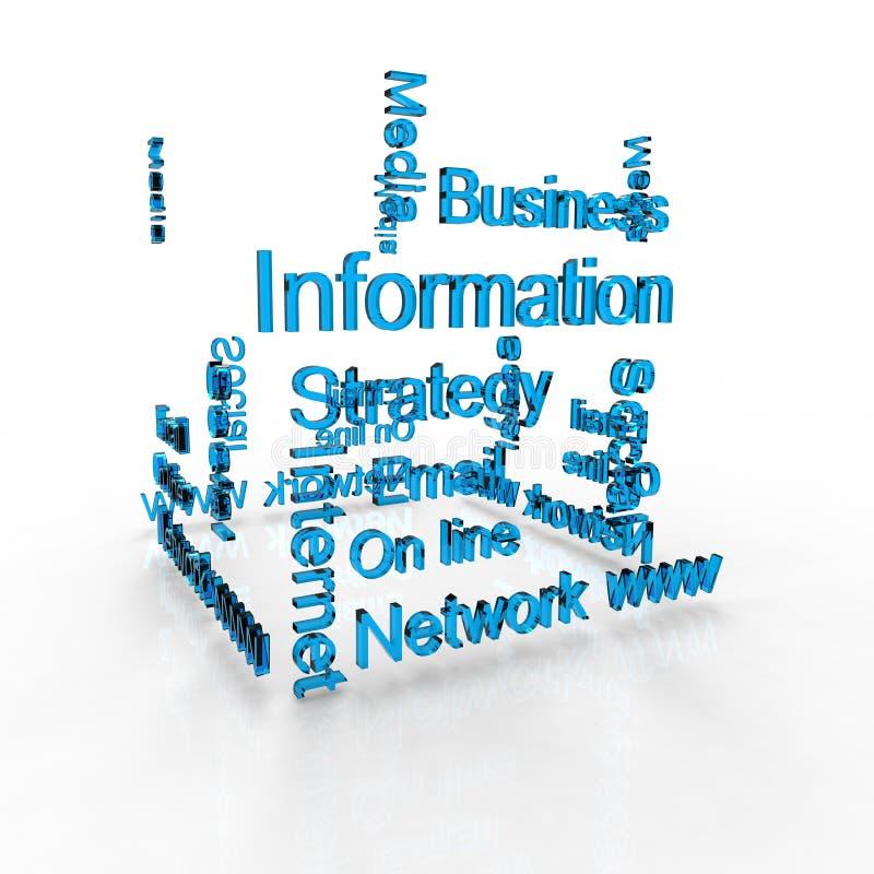 Download 3d text stock illustration. Illustration of media, data - 25079043