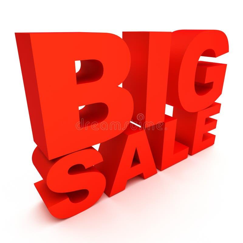 3d text big sale stock illustration