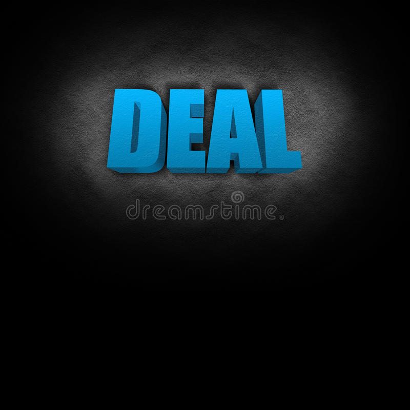 Download 3D Text Concept Deal stock illustration. Image of leadership - 22808411