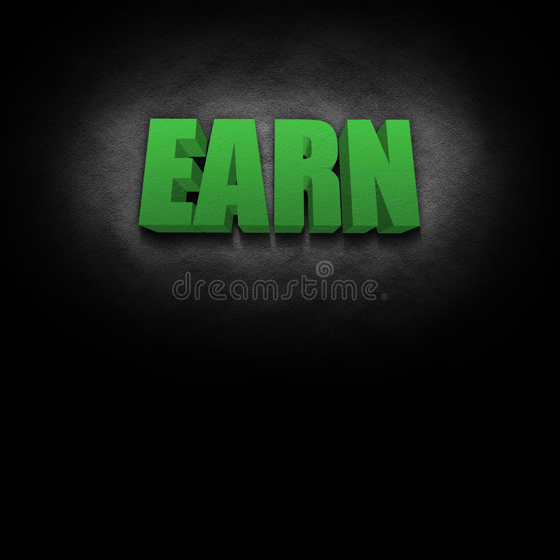 Download 3D Text Concept Earn stock illustration. Image of learn - 22808454