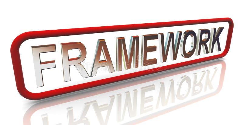 3d texte «cadre» du mot à la mode illustration de vecteur