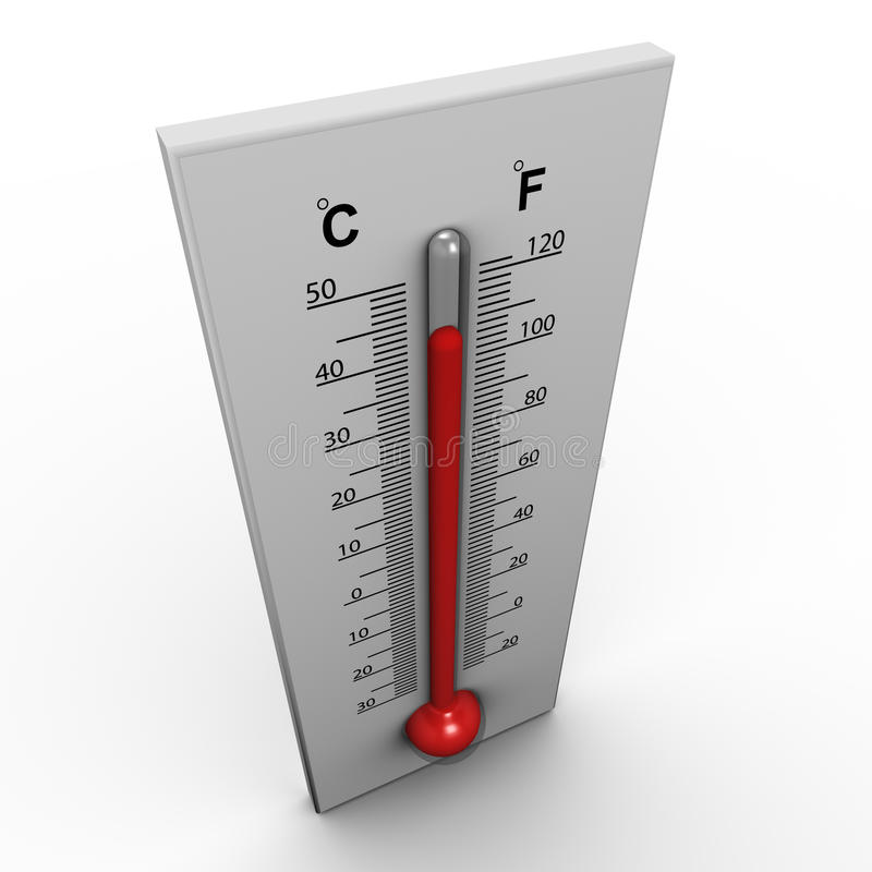 3d thermometer vector illustration