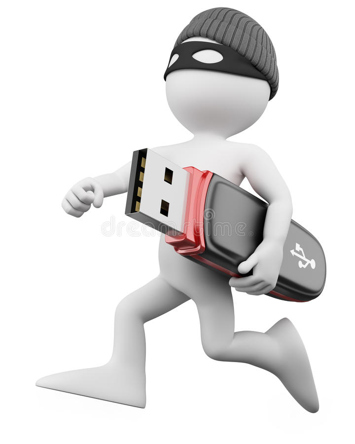 3D Thief - Hacker stock illustration