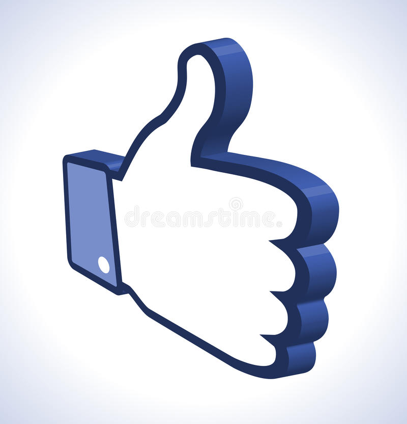Download 3d Thumb Up stock vector. Image of like, internet, contact - 26569828