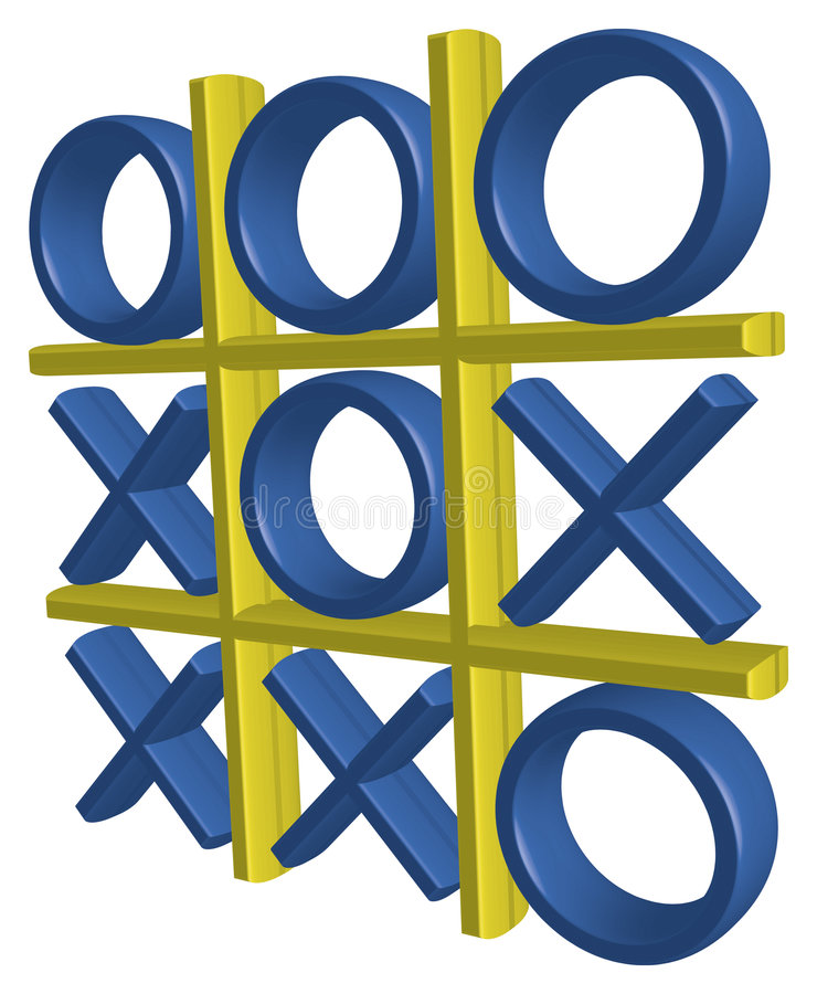 3D Tic Tac Toe #1 royalty free illustration