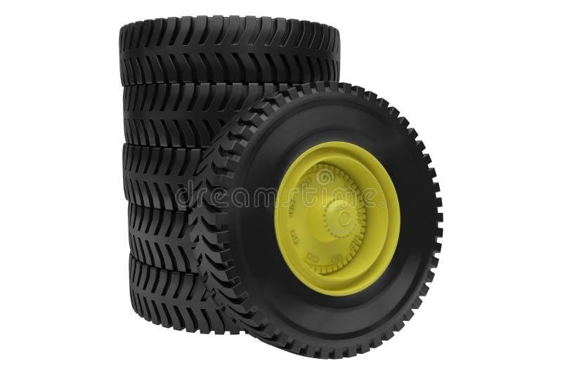 3d Tires Royalty Free Stock Photos