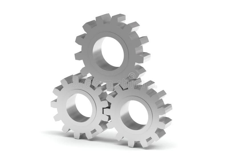 3D toestel dat op wit wordt geïsoleerd stock illustratie