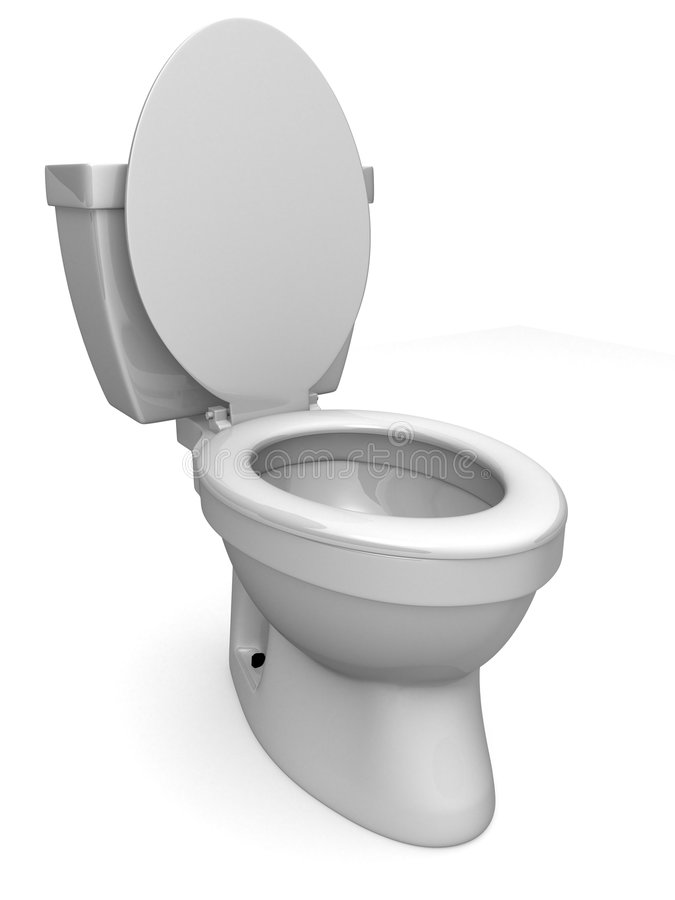 3d toilet royalty free illustration