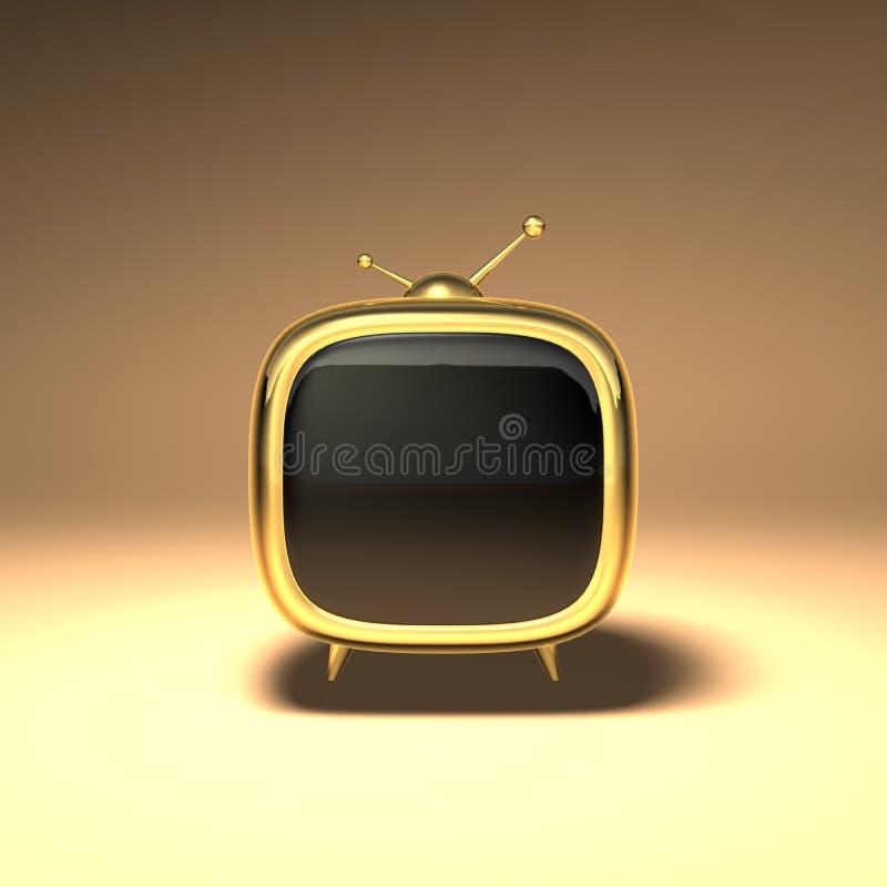 3D Toon Fernsehapparat lizenzfreie abbildung