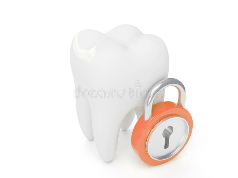 Download 3d Tooth And Padlock Stock Photography - Image: 11023852