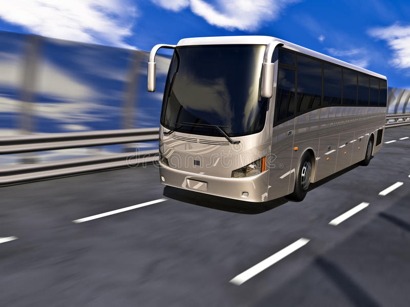 3D Tour bus stock illustration